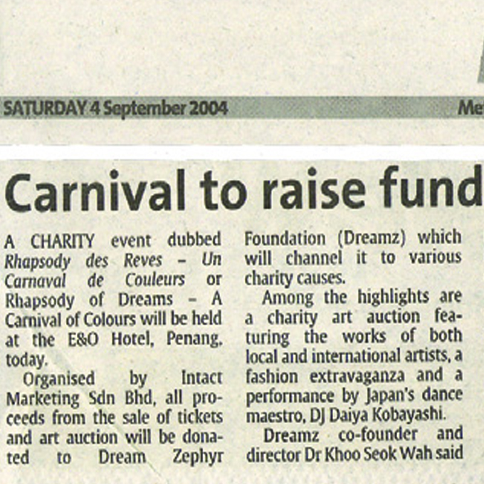 Carnival to raise funds – Metro (Saturday, 4 September 2004)