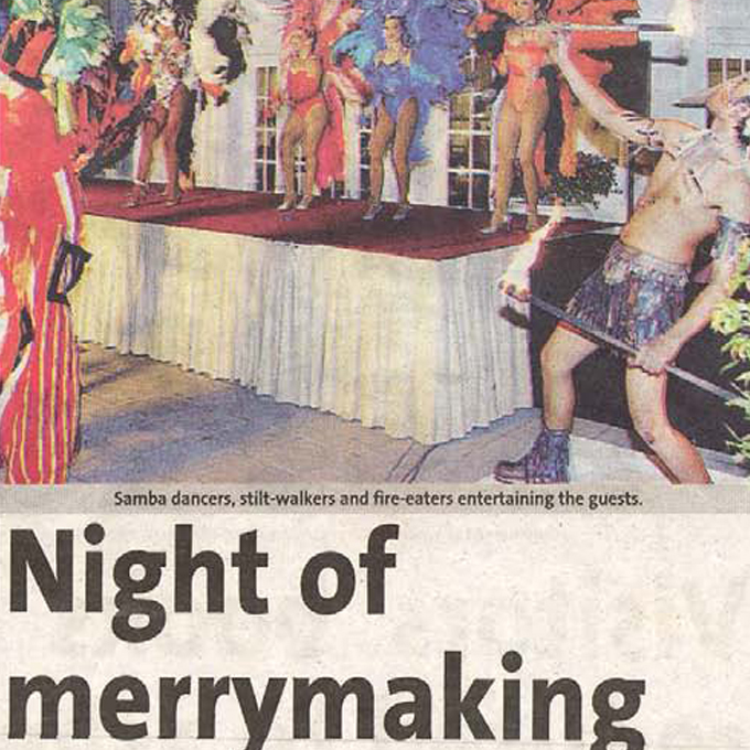 Night of merrymaking – Metro (Thursday, 16 September 2004)