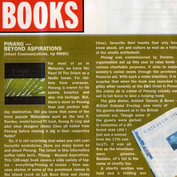 Book : Pinang – Beyond Aspirations (Friday, 22 August 2003)