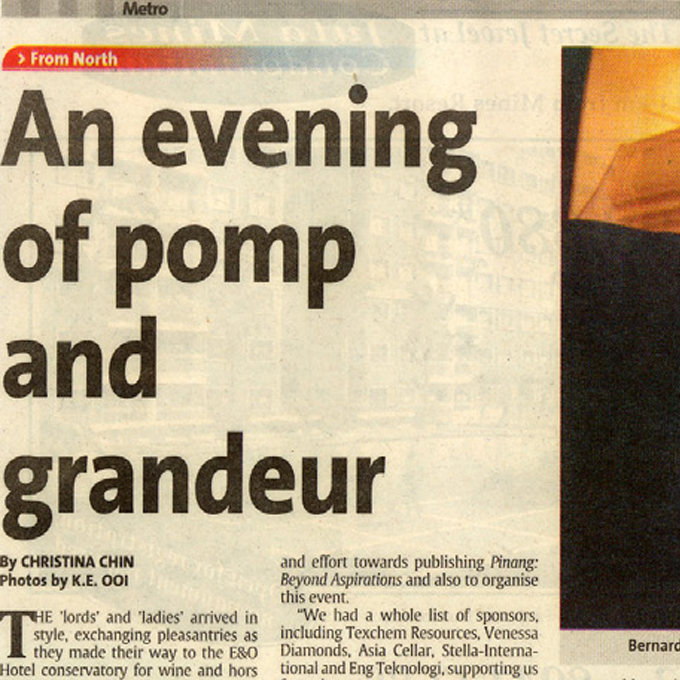An evening of pomp and grandeur – Metro (Thursday, 28 August 2003)